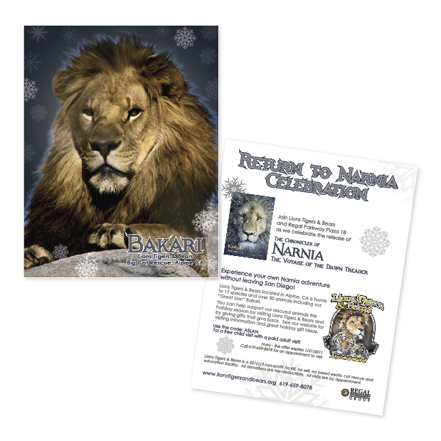 Lions Tigers & Bears Narnia flier